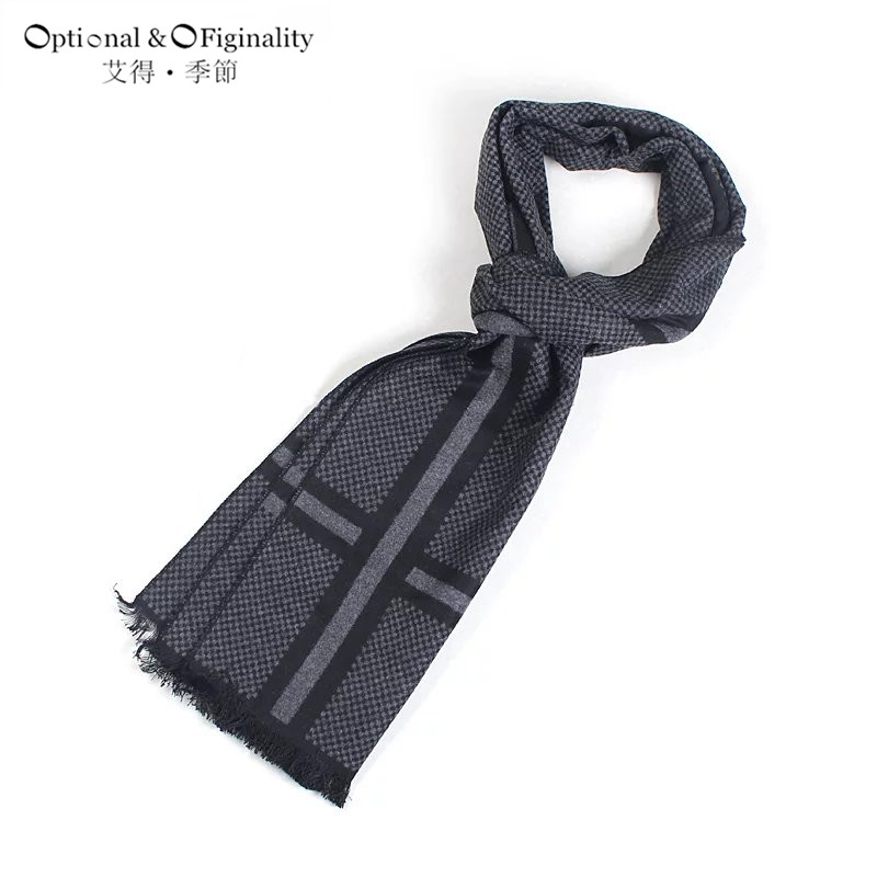 Mens 2016 Fashionable tassel British style scarves Long Fringe Check Tassel Scarf cotton font b tartan