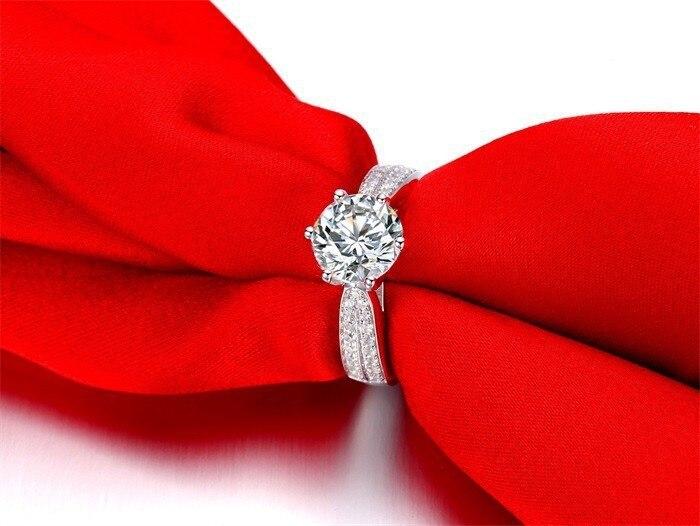 d5978318b5d7 JewelryPalace promoción 2.3ct boda anillo puro de la plata esterlina 925  joyería fina anillo marrón