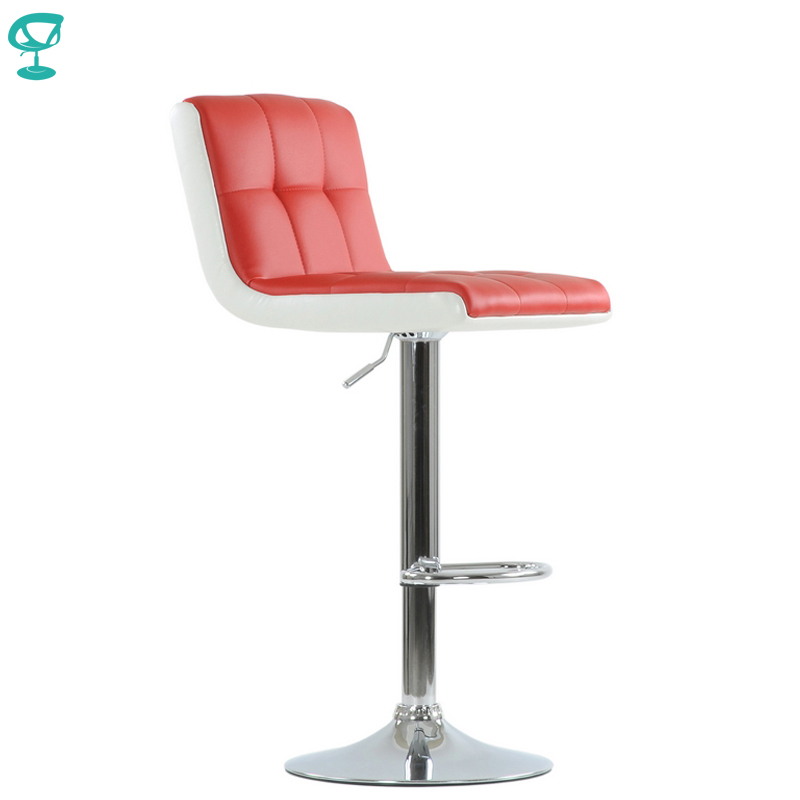 N45CrPuRedWhite Barneo N-45 PU Leather Kitchen Breakfast Bar Stool Swivel Bar Chair Red-White Color Free Shipping In Russia