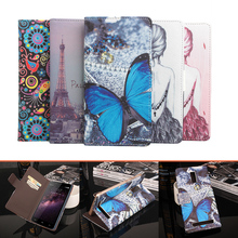 Doogee Homtom HT17 case Роскошные бабочки башня живопись бумажник флип Кожаный защитный чехол case для Doogee Homtom HT17 Pro
