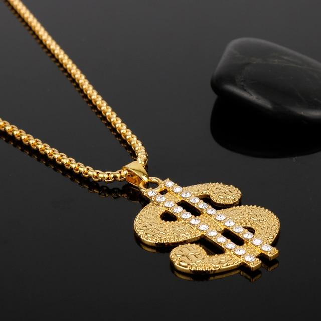 US Dollar Rhinestone Necklace 2