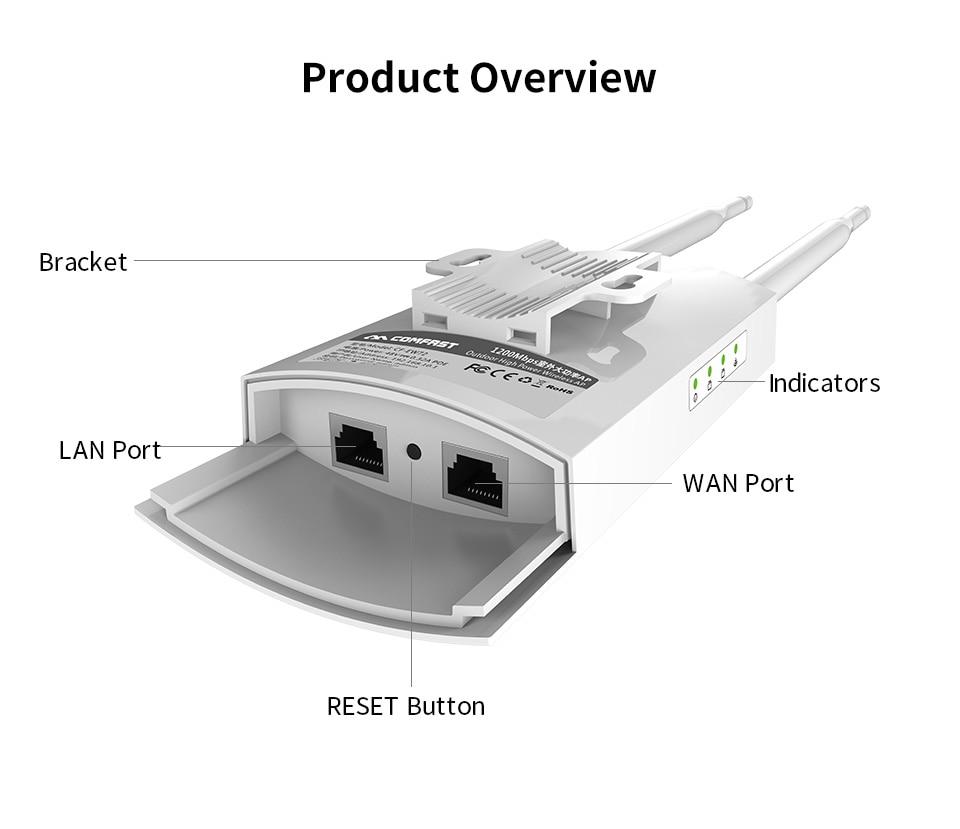 Image 5 - Comfast 1200 Мбит/с CF EW72 Двухдиапазонная 5 г высокая мощность открытый AP всенаправленная точка доступа Wifi базовая станция антенна AP-in Беспроводные маршрутизаторы from Компьютер и офис on AliExpress