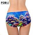 Forudesigns top qualidade mulheres underwear calcinhas das senhoras cuecas sensuais sem costura underwater world impressão amor lingerie intimates sob