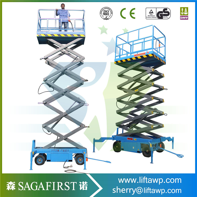 Factory Direct Sale!5-14m Self Propelled Electric Scissor Lift