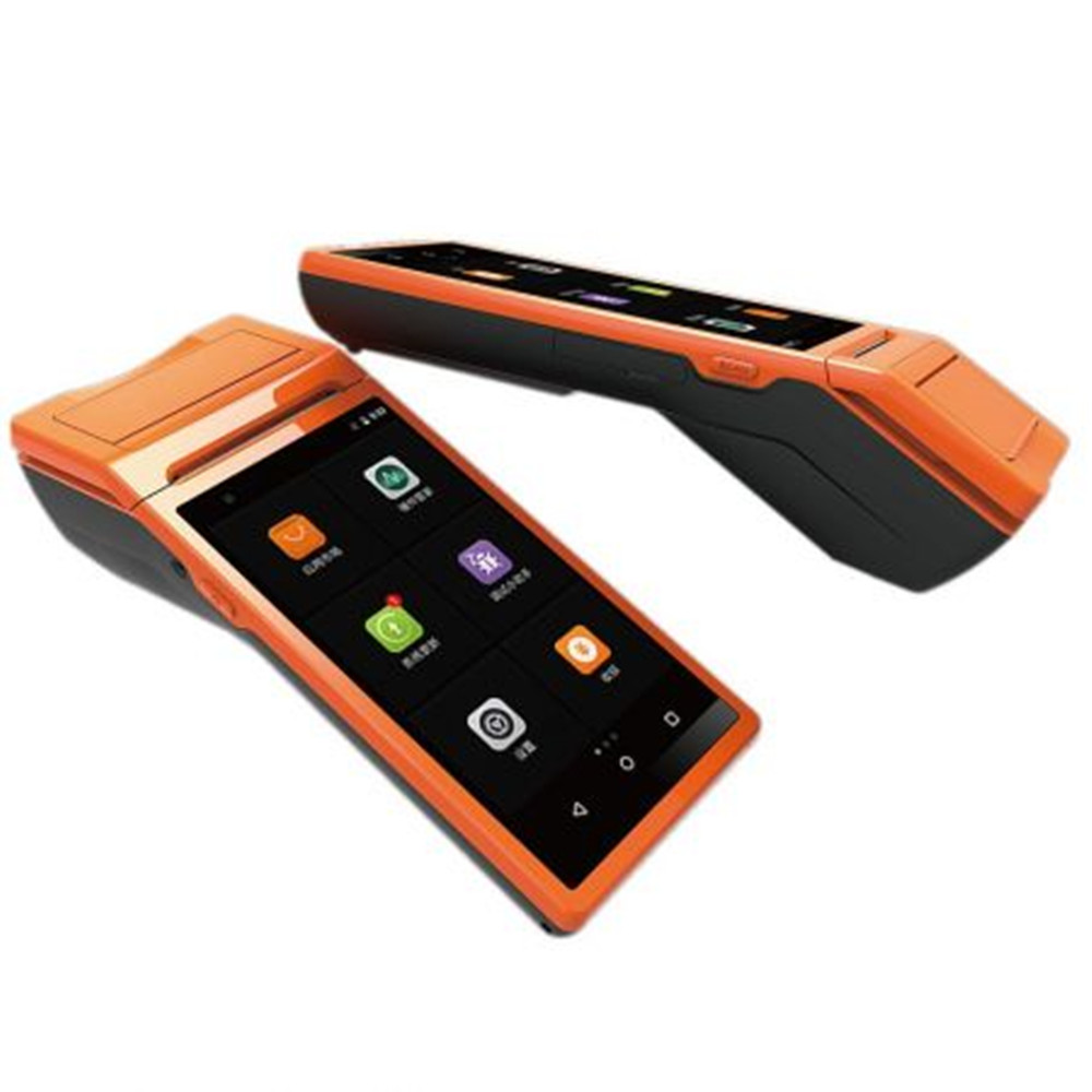 GOOJPRT Portatil POS Terminal PDA With Wireless Bluetooth Wifi Android System Thermal Printer Built in Barcode