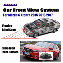 Liandlee For Mazda 6 Atenza 2015 2016 2017 Car Front View Logo Embedded Camera / Cigarette Lighter / 4.3 LCD Monitor Screen