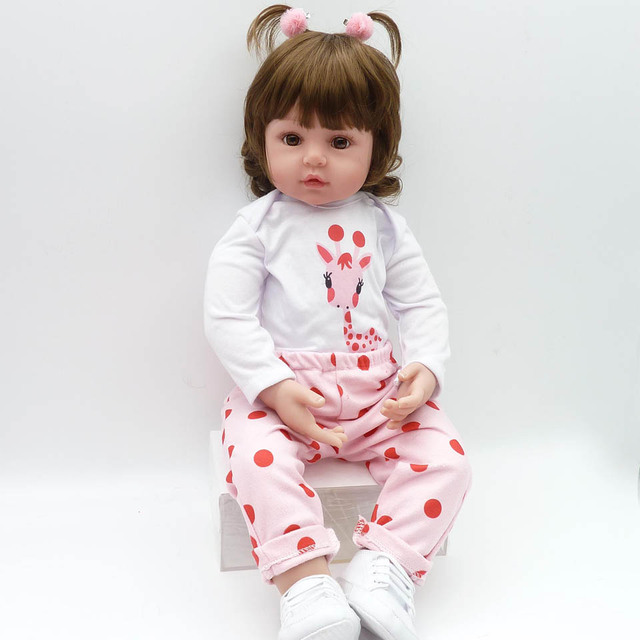 Hot Sale Realistic Reborn Baby Doll Soft Silicone Stuffed Lifelike Baby Doll Toy Ethnic Doll For Kids Birthday Christmas Gifts