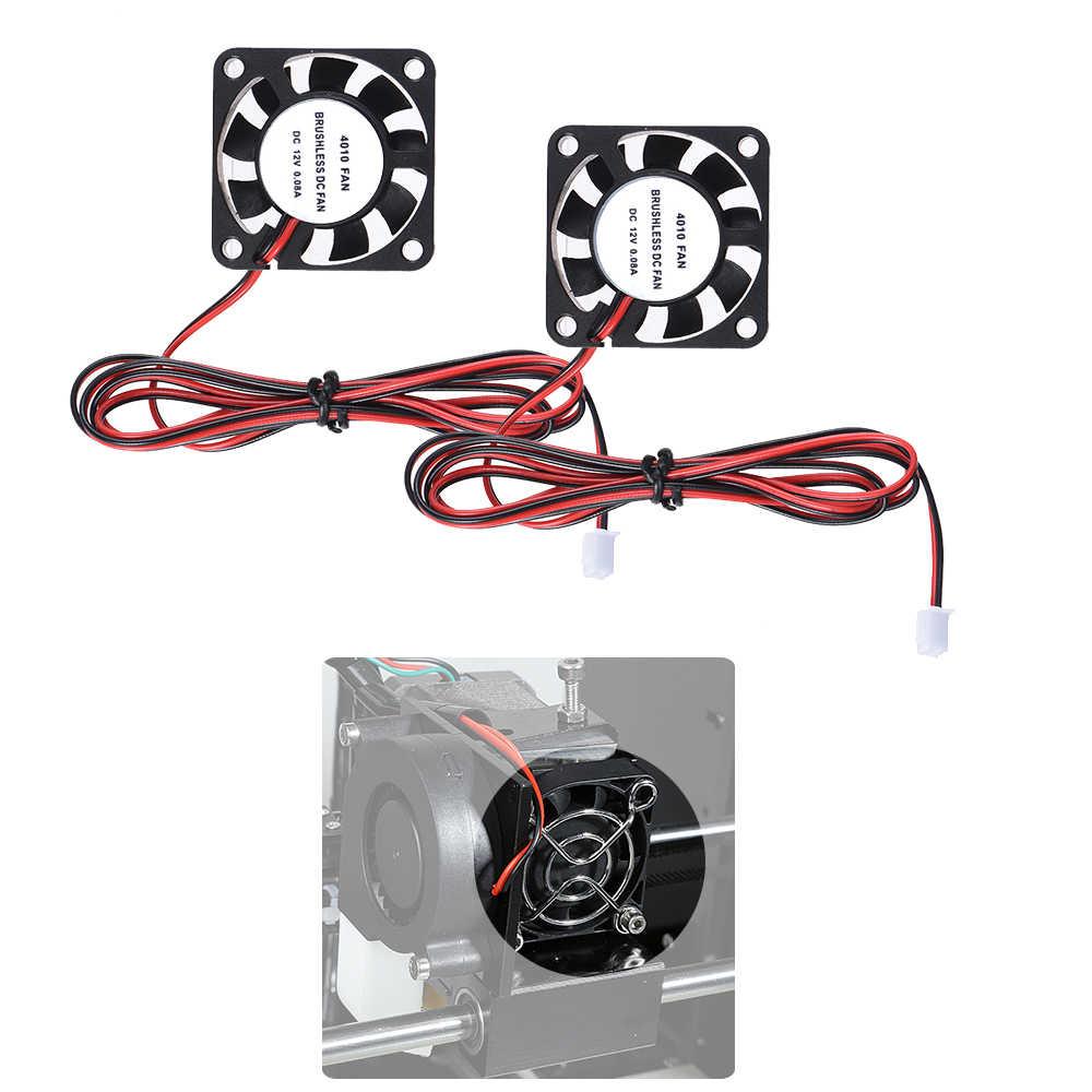 Anet 40*40*10mm DC 12 V Không Chổi Than Làm Mát Cooler Fan 2 Dây fo TỰ LÀM 3D Máy In