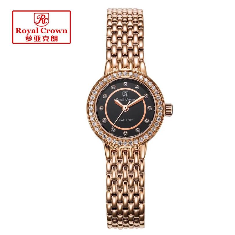 女性の女性の腕時計ファインファッション母の真珠ジュエリー時間ステンレス鋼ブレスレットラインストーンガールのギフトロイヤルクラウンボックス  グループ上の 腕時計 からの レディース腕時計 の中 1