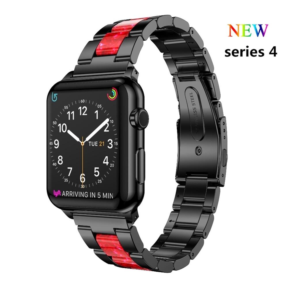 все цены на Link Bracelet For Apple watch band 4 44mm 40mm correa aplle watch 42mm 38mm Stainless Steel wrist belt Watchband iWatch 4/3/2/1 онлайн