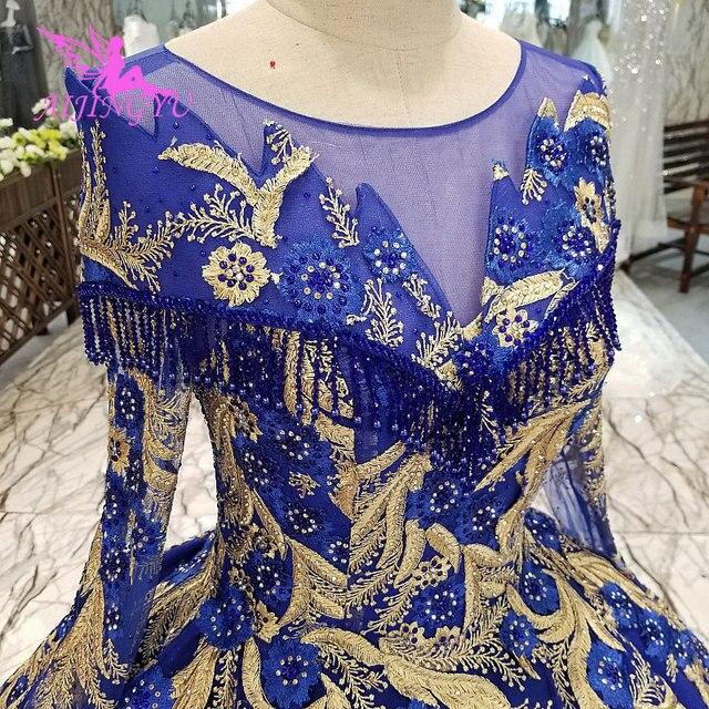 AIJINGYU חתונה שמלות יפן זול כלה Beijing שמלה סקסי פתוח חזרה ארוך שרוולים חדש שמלת כלה