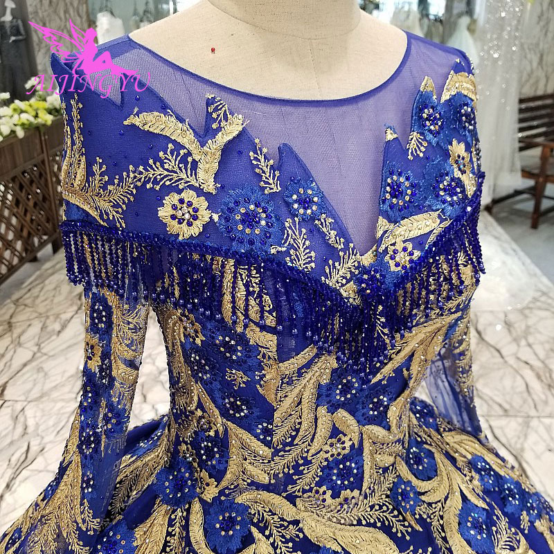 AIJINGYU Wedding Dresses Japan Cheap Bridal Beijing Gown Sexy Open Back Long Sleeves New Wedding Dress