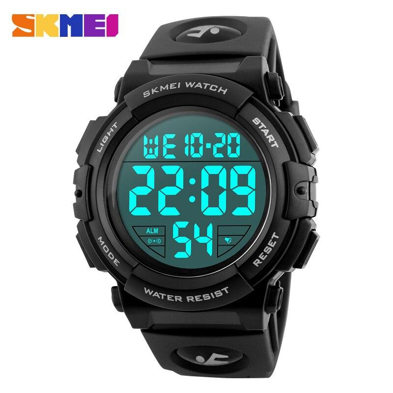 SKMEI Men Watch Clock Man Top Luxury Brand 2018 Sport Watch Electronic Digital Male Wrist 50M Waterproof Men's Watches New 1258