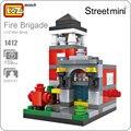 Ideas loz mini bloques de bomberos hidrante modelo de construcción de street view bloques de juguetes diy regalo tienda juguete bircks abs juego de puzzle 1412