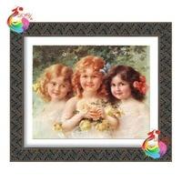 5d diy completamente bordado de diamantes niñas decorativo cuadrado pintura de piedras de mosaico rico y honrado fotos mosaico de diamantes