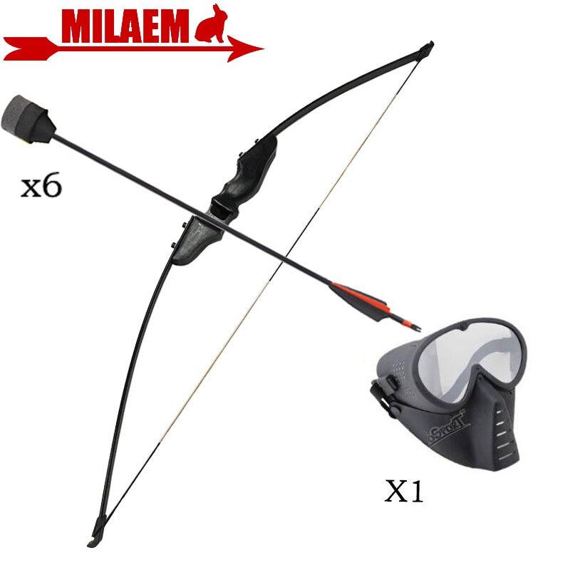 1 Set tir à l'arc arc classique 30/40lbs arc flèche ensemble gauche/droite CS jeu arc noir arc enfants cadeau chasse accessoires de tir