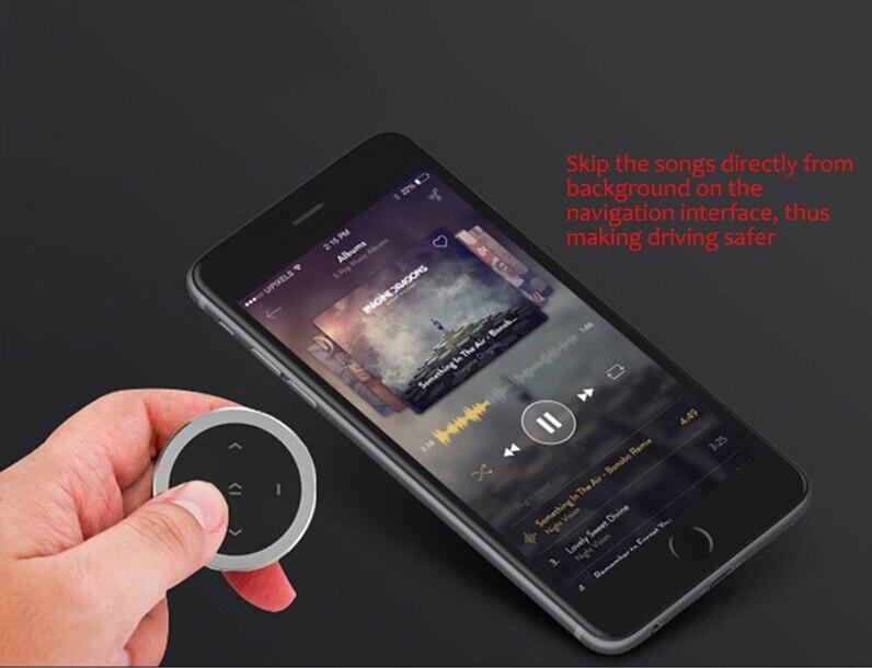 R/écepteur Sans Fil Bluetooth Bouton Multim/édia T/él/écommande Mains Libres Audio St/ér/éo pour iPhone iPad Android Smartphone pour Voiture de V/élo