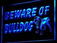 I837 Beware of Bulldog display декоративная собачка неоновый свет знак включения/выключения 20 + цвета 5 размеров