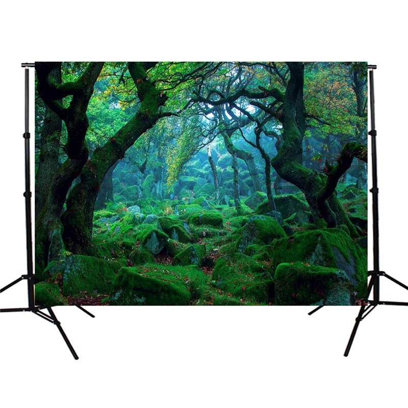 5x3FT Nature Forest Tree Theme Photography Background For Studio Photo Props Photographic Backdrops cloth 150cmX90cm