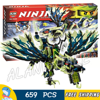 658pcs Ninja Attack of the Morro Dragon Tomb Jet Boards Ghost 10400 Model Building Blocks Kids Toys Bricks Compatible With lego
