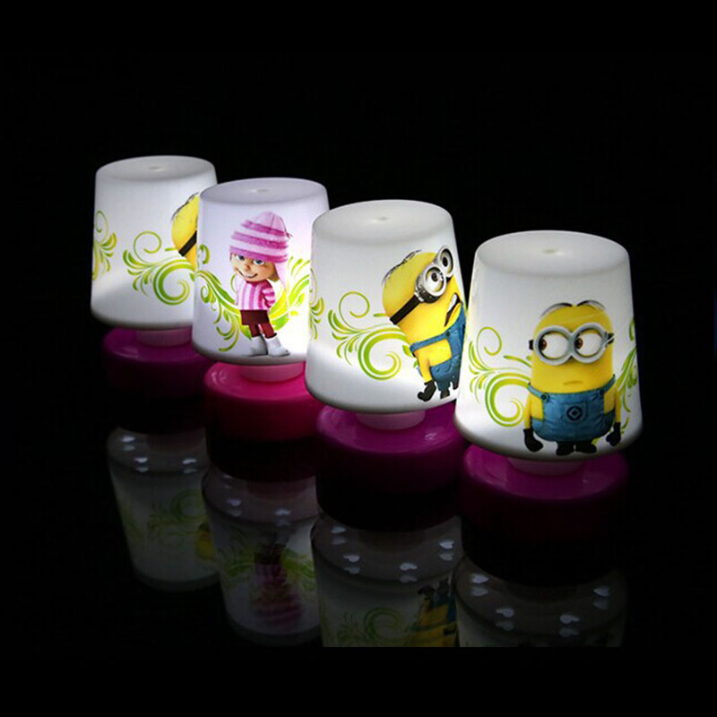 New Minions Pat Design 110v LED Changing Table Lamp Night Light Lamps  Colorful 7 Color Children Lights Toy For Bedroom In LED Night Lights From  Lights ...