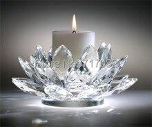 """110 мм 4.3 inch высший сорт свадебные и украшение дома, кристалл """"цветок лотоса"""", подсвечник"""
