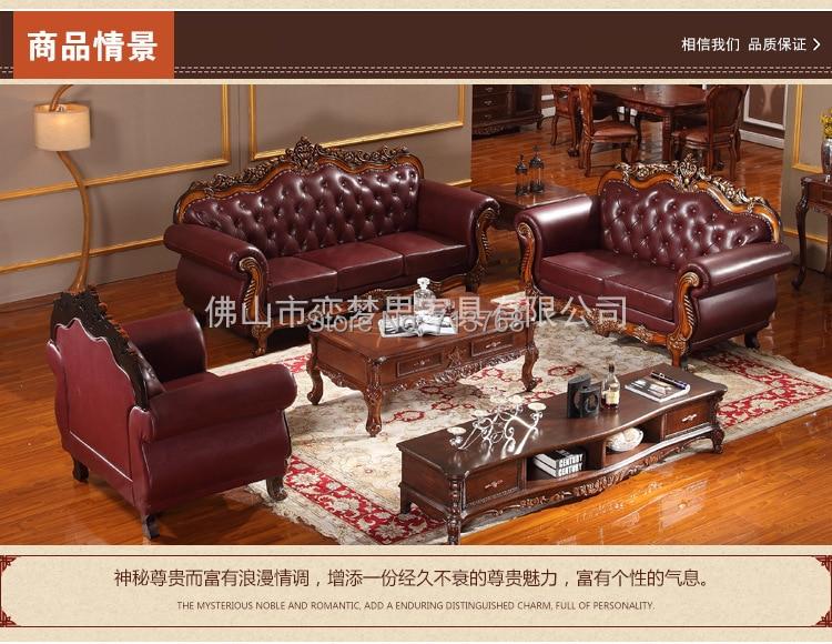 US $2568.6  Königliche Möbel Klassische Echtem leder sofa mit 3 2 1 sitz  MCNO901-in Wohnzimmersofas aus Möbel bei AliExpress