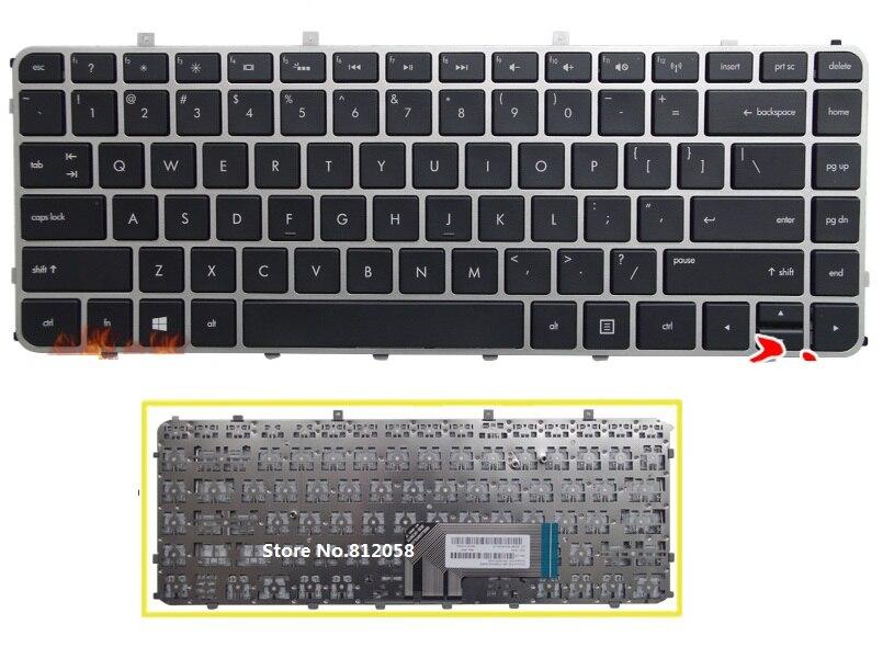 SSEA Novo Teclado EUA preto para HP Envy 4 4-1000 4-1100 4-1200 envy 6 6-1000 6-1100 m4 m4-1000 envy Laptop Keyboard prata quadro