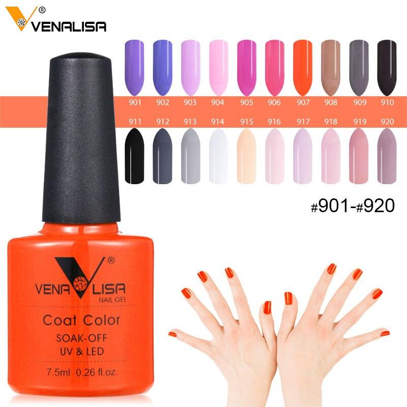 61508 Venalisa 7.5ml Nail Gel Polish Color Nail Gel lacquer nail art Soak Off Fast Dry Long Lasting Color Gel nail polish supply