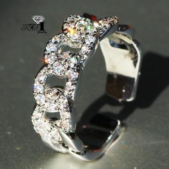 YaYI biżuteria księżniczka Cut 3 8 CT wielu cyrkon kolor srebrny pierścionki zaręczynowe obrączki obrączki ślubne dziewczyny pierścionki Party prezenty tanie i dobre opinie Moda Zaręczyny Zespoły weselne Kobiety Cyrkonia TRENDY Prong ustawianie yayi jewelry Geometryczne HR748 14mm Miedzi NONE