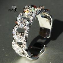 YaYI biżuteria księżniczka Cut 3 8 CT wielu cyrkon kolor srebrny pierścionki zaręczynowe obrączki obrączki ślubne dziewczyny pierścionki Party prezenty tanie tanio Moda Zaręczyny Zespoły weselne Kobiety Cyrkonia TRENDY Prong ustawianie yayi jewelry Geometryczne HR748 14mm Miedzi NONE