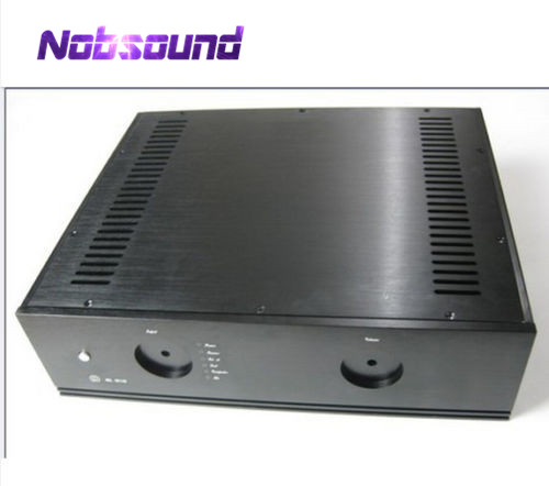 Nobsound Black Empty Preamplifier Chassis Aluminum Enclosure Integrated Circuit PCB CaseNobsound Black Empty Preamplifier Chassis Aluminum Enclosure Integrated Circuit PCB Case