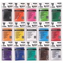 100 шт./лот, цветные Матовые чехлы для карт, защита карт для торговых карт, чехол для карт Pkmn/YU-GI-OH, 66x91 мм