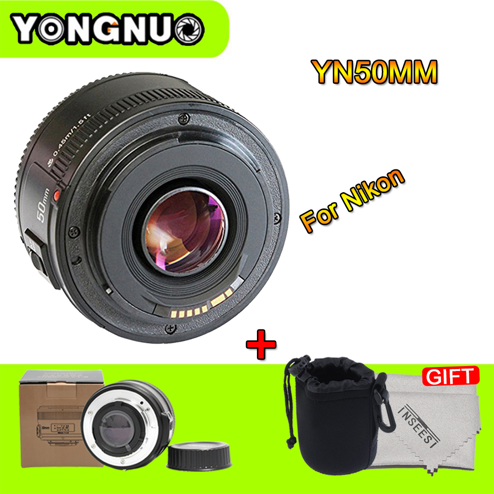 YONGNUO YN50MM F/1.8 Large AF Lens Aperture Auto Focus Lens YN 50mm for Nikon DSLR Camera as AF-S 50mm 1.8G yongnuo 35mm camera lens f 2 af aperture auto focus large aperture for nikon d5200 d3300 d5300 d90 d3100 d5100 s3300 d5000