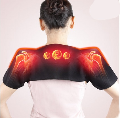 Prix pour Tourmaline femmes la posture correcteur retour support de siège correction Auto Chauffage Ceinture Massager Brace Pour Votre bande D'épaule