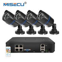 MISECU 1080P POE NVR 4pc 2.0mp 13V PoE IP Camera P2P HDMI 1080P 1TB HDD CCTV Security Surveillance Night vision outdoor PC&Phone