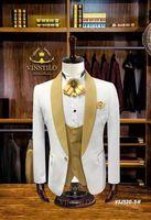 Для мужчин смокинг slim fit смокинг Жених дружки best человек terno masculino slim fit Куртка брюки жилет мужские костюмы с брюками