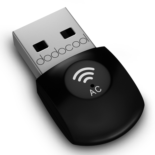 dodocool AC600 Dual Band Wireless USB Adapter Wi-Fi Dongle 2.4GHz 150Mbps or 5Ghz 433Mbps for Windows/Linux/Max Wifi USB Adapter