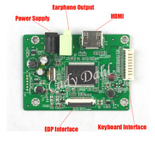 HDMI EDP LCD Controller Driver Board Module for Raspberry PI 3 1920x1080 EDP Signal 2 Lanes 30 Pins LCD Display Panel(China)
