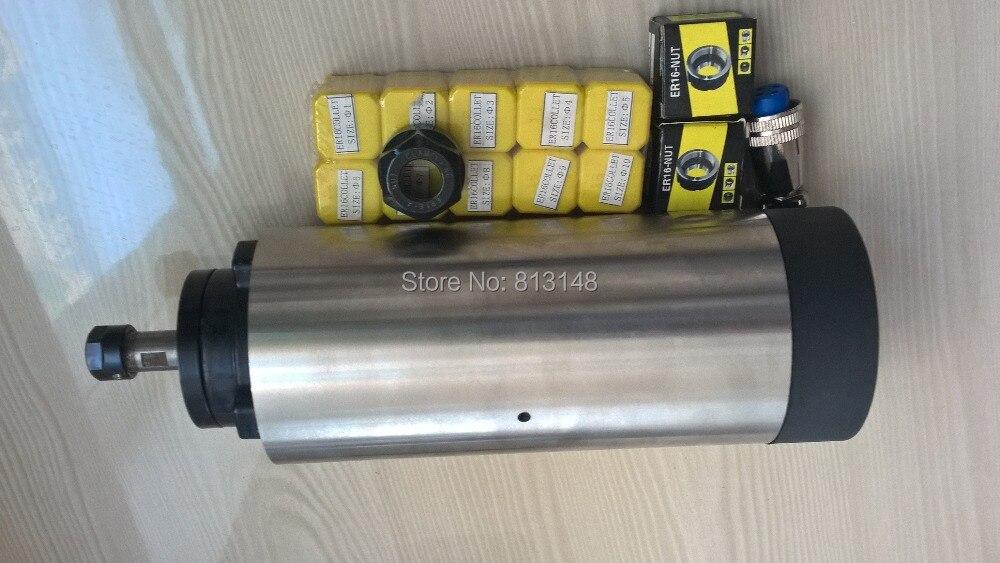 CNC orsókészlet, 1.5KW, ER16 léghűtéses orsómotor + 10 db ER16 - Szerszámgépek és tartozékok - Fénykép 2
