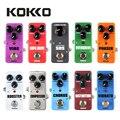 Портативная мини-педаль KOKKO для гитары  педаль для звукового эффекта овердрайв  таймер  SOS  бустер  Supa Drive  искажения  хор  пространство  вибрат...