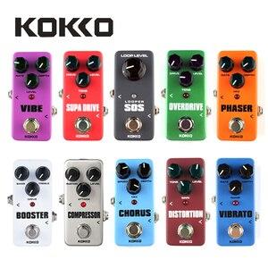 Портативная мини-педаль KOKKO для гитары, педаль для звукового эффекта овердрайв, таймер, SOS, бустер, Supa Drive, искажения, хор, пространство, вибрат...