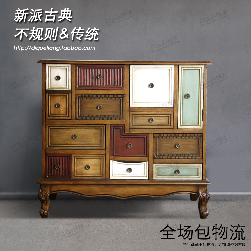 Superbe European American Retro Wood Furniture Living Room Cabinet Entrance Foyer  Drawers Sideboard Special Drawer Minimalist Modern In Restaurant Tables  From ...