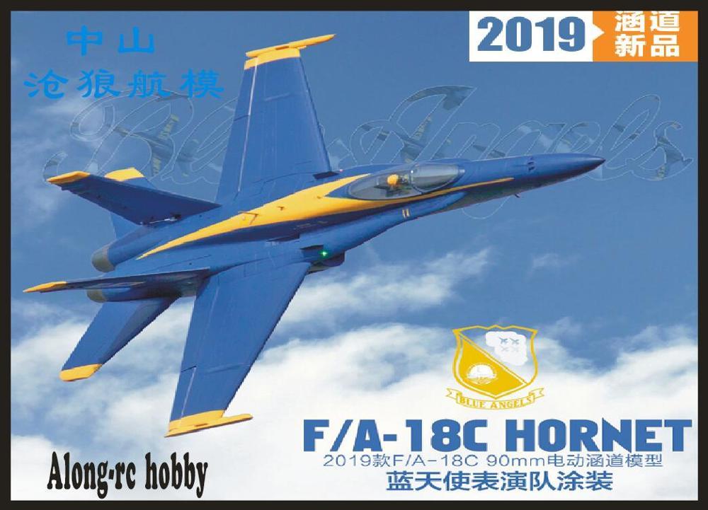 Freewing F18 F/A-18C Hornet Blue Angels 90mm EDF Jet PNP or kit+servo Retractable F-18 C plane airplane/RC MODEL HOBBY