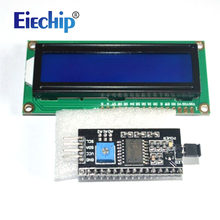 LCD display LCD1602 module Blue screen 1602 i2c LCD Display Module HD44780 16x2 IIC Character 1602 5V for arduino lcd display(China)