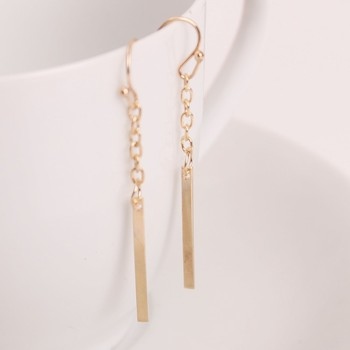 Zinc Alloy European and American popular simple long section of a chain-shaped ear hook earrings wholesale trade punk style image
