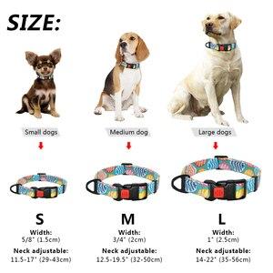Image 5 - Naylon Baskılı köpek tasması Ayarlanabilir Köpek Küçük Köpekler Yaka Chihuahua için evcil hayvan tasmaları Fransız Bulldog Pet Ürünleri