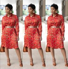 casual print african dresses for women printing ladies dashiki africa 2018 autumn summer vetsido robe robes africaines