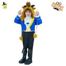 Детский маскарадный костюм принца «Красавица и Чудовище» для мальчиков; вечерние костюмы для костюмированной вечеринки Адама; детская форма для Хэллоуина