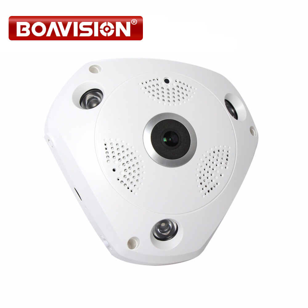 цена 1.3MP 3D VR Cam WIFI IP Camera 960P Fisheye Lens HD Panorama WI-FI Camera IR Night Vision CCTV Security Camera BOAVISION